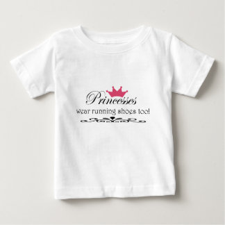 Princesses wear runnig shoes too! baby T-Shirt