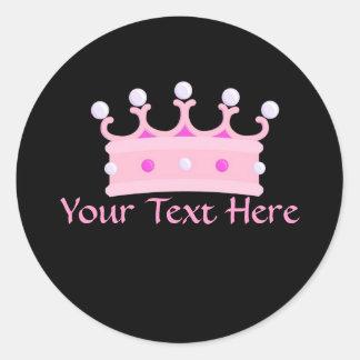 PrincessPartyCrown2 Classic Round Sticker