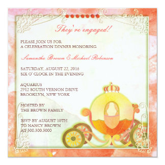 Princess's Carriage: Engagement Invitations