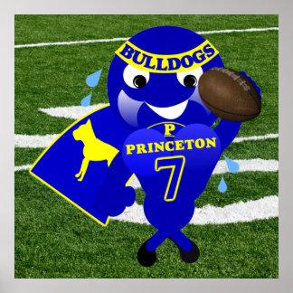 Princeton Bulldogs Football Poster