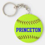 Princeton Softball Keychain