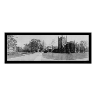 Princeton University Photo 1909 print