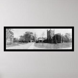 Princeton University Photo 1909 Poster