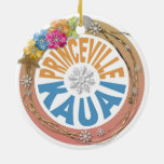 Princeville Kauai Hawaii hibiscus holiday ornament