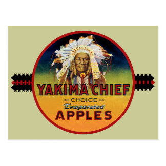 Principal Apple etiqueta del cajón de Yakima Postales