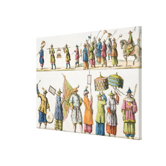 Principal attendants of the Chinese Emperor's proc Canvas Print
