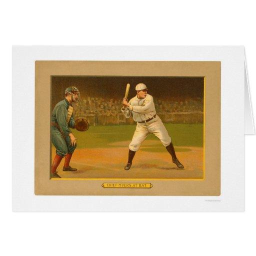 Principal béisbol 1911 de Myers Giants Tarjeta
