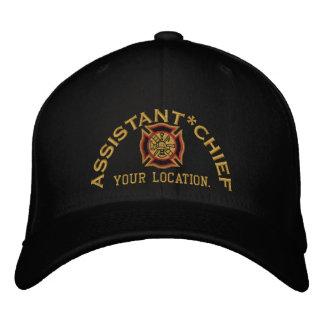 Principal bordado de encargo auxiliar gorra bordada