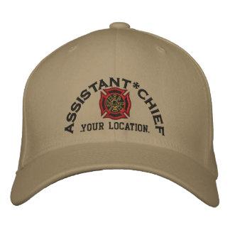 Principal bordado de encargo auxiliar gorra de béisbol