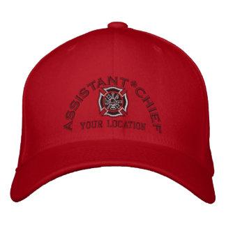 Principal bordado de encargo auxiliar gorra de béisbol bordada