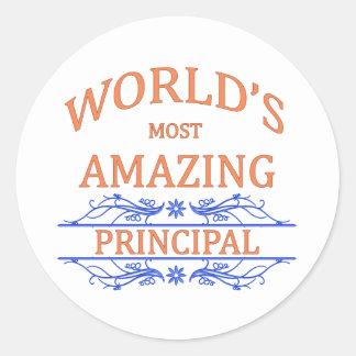 Principal Classic Round Sticker