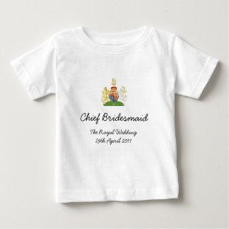 Principal dama de honor - camiseta real de los playeras