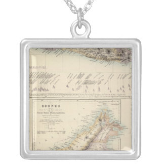 Principal Dutch Colonies in the Indian Seas Silver Plated Necklace