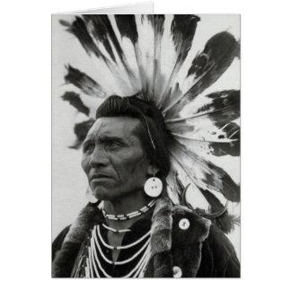 Principal Eagle, indio de Salish Tarjeta De Felicitación