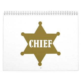 Principal estrella de oro calendario