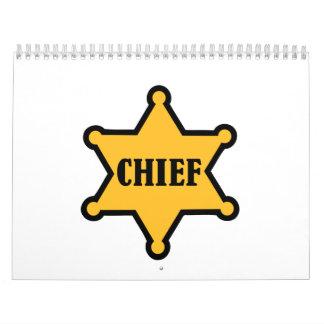 Principal estrella del sheriff calendarios