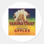 Principal etiqueta del vintage de las manzanas de