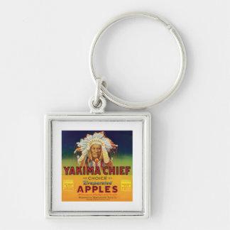Principal etiqueta del vintage de las manzanas de  llavero