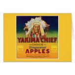 Principal etiqueta del vintage de las manzanas de tarjetas