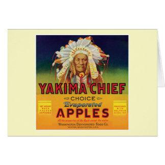 Principal etiqueta del vintage de las manzanas de tarjeta de felicitación