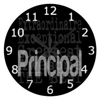 Principal Extraordinaire Large Clock