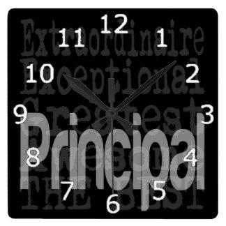 Principal Extraordinaire Square Wallclocks