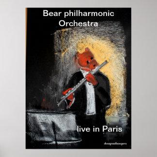 principal flute bear poster