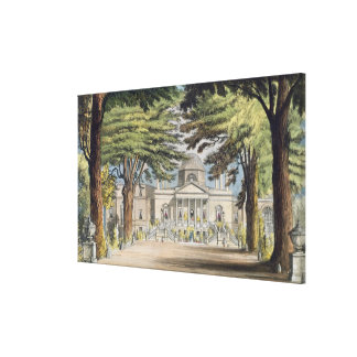 Principal front of Chiswick House, from R. Ackerma Canvas Print