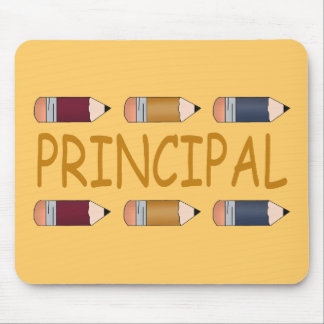 Principal Gift With Pencil Border Mouse Pad
