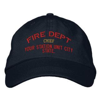 Principal gorra del bombero de Personalizable Gorra Bordada