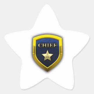 Principal insignia de oro pegatina en forma de estrella