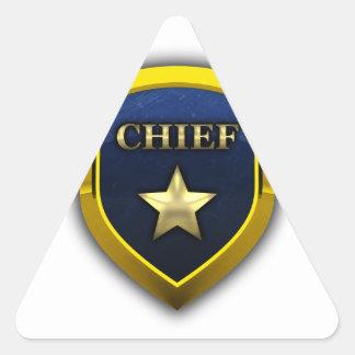 Principal insignia de oro pegatina triangular