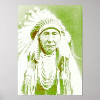 Principal líder del nativo americano de José Póster