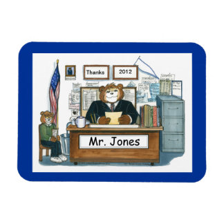 Principal Magnet, Personalized with a Name Rectangular Photo Magnet