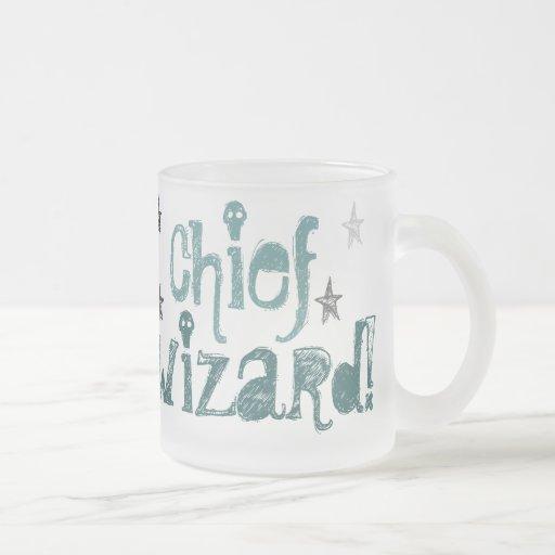¡principal mago! taza del vidrio esmerilado