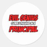 Principal malvado del genio… etiquetas redondas