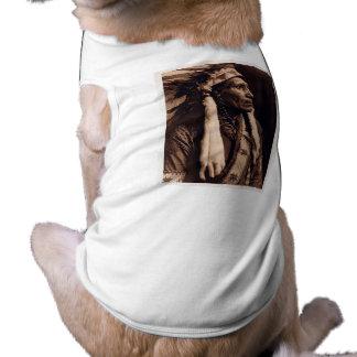 Principal manta del cuervo - Nez Perce - vintage Playera Sin Mangas Para Perro