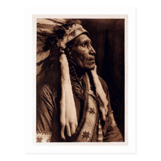 Principal manta del cuervo - Nez Perce - vintage Postal