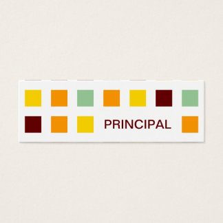 PRINCIPAL (mod squares) Mini Business Card