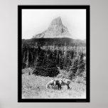 Principal montaña del Parque Nacional Glacier 1925 Impresiones
