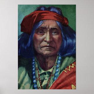 Principal nación de Navajo de Thunderbird Póster