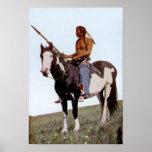 Principal nativo americano de los Blackfeet del bú Posters