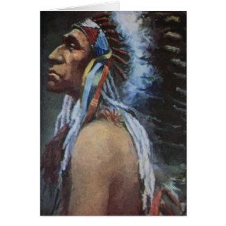 Principal nativo americano de Omaha del mirlo Tarjetas