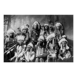 Principal nube roja con otros jefes: 1899 póster