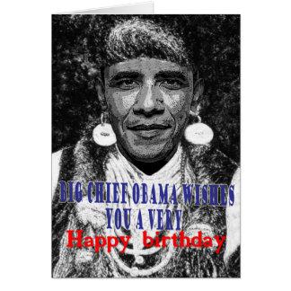 principal obama grande le desea un feliz tarjeta de felicitación