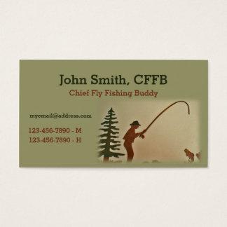 Principal plantilla del compinche de la pesca con tarjetas de visita