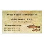 Principal plantilla del compinche de la pesca de l tarjeta de visita