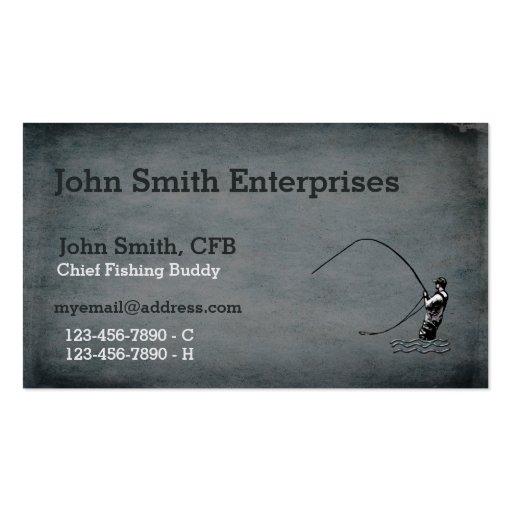 Principal plantilla del compinche de la pesca plantillas de tarjeta de negocio