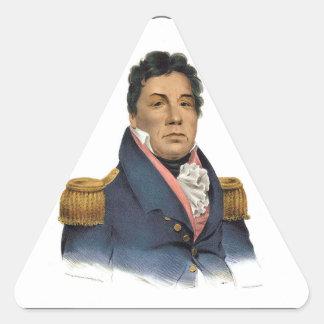 Principal Pushmataha Pegatina Triangular