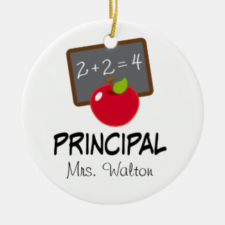 Principal School Ornament Personalized Gift